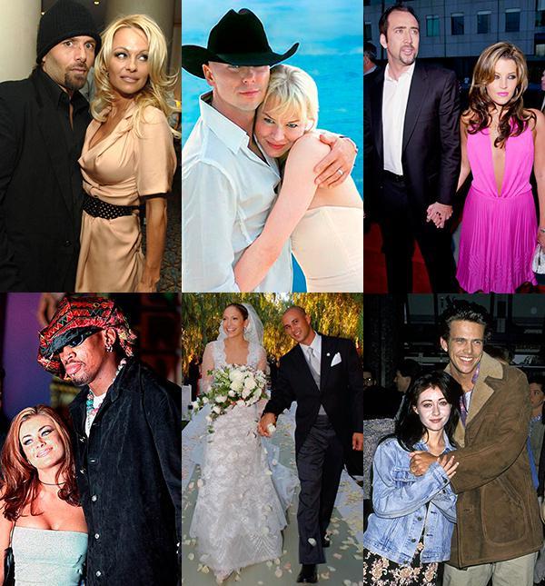 Самые короткие браки знаменитостей