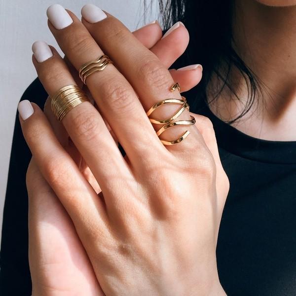 кольца на фалангу серебро
