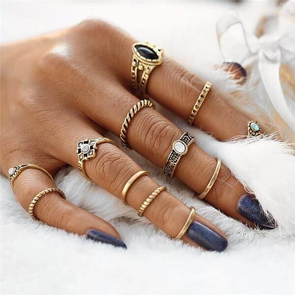 фаланговое кольцо на весь палец
