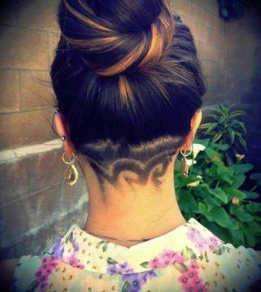 Новый тренд: арт-стрижка и узоры на голове