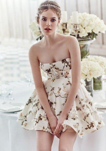 Самая большая свадебная тенденция: короткие платья