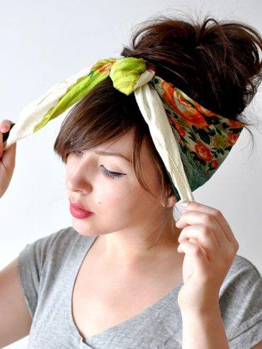 7 необычных способов использования платков и шарфов