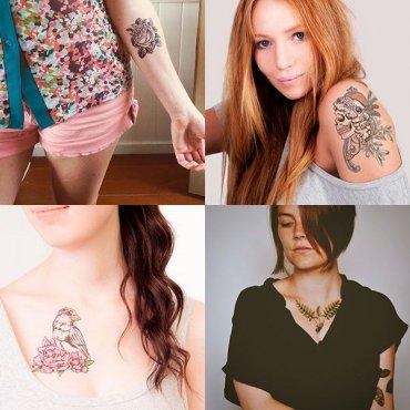 Временные татуировки, которые выглядят не хуже настоящих