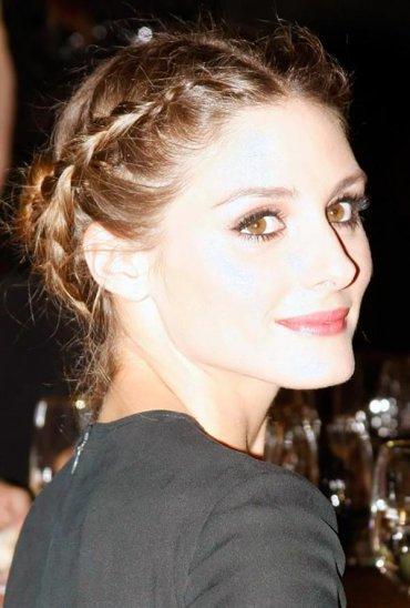 Прическа из кос как у Оливии Палермо