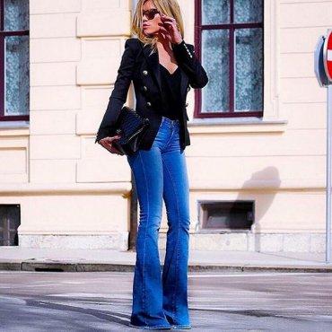 Самые удачные модели джинсов клеш для невысокого роста