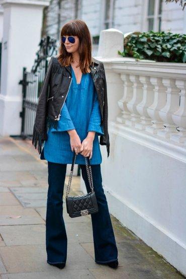 С чем носить джинсовое платье (10 идей с фото)