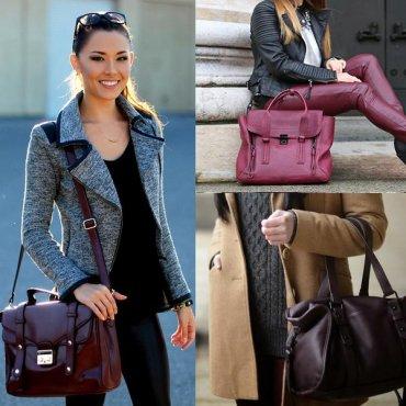 20 бордовых сумок для твоего осеннего гардероба