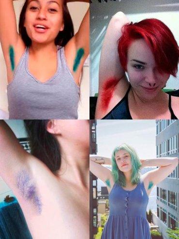 Окрашивание волос в подмышках - новый большой бьюти-тренд