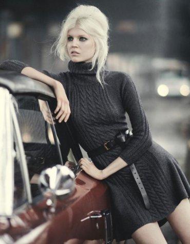 Платье-свитер - с чем носить