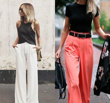 10 элегантных образов с брюками «палаццо»