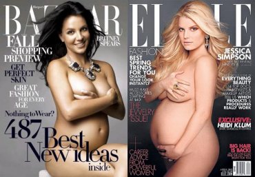 Знаменитости, позировавшие обнаженными во время беременности