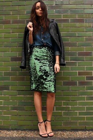 Как и с чем носить зелёный цвет