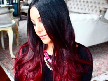 Вишнёвое Bombre: новый тренд в окрашивании волос