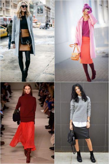 С чем носить юбку зимой: модный инструктаж