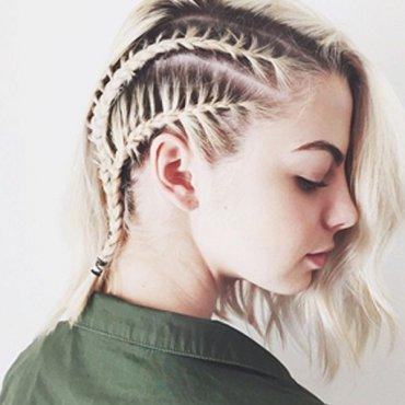 8 кос для коротких волос